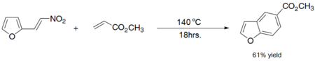 Diels–Alder reaction yielding a substituted benzofuran