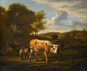 Mountainous landscape with cattle