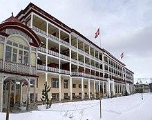 Il sanatorio Schatzalp,menzionato nel romanzo La montagna incantata di Thomas Mann