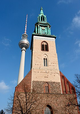 The old and new of Berlin - Marienkirche & TV Tower