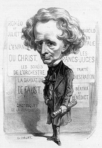 Étienne Carjat - Image: Berlioz caricature by Étienne Carjat