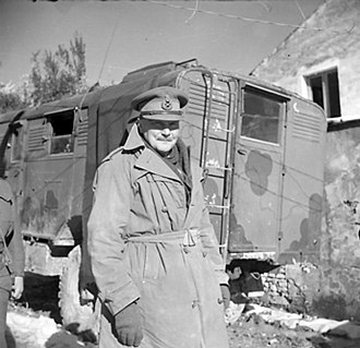Bernard Freyberg, 1st Baron Freyberg - Freyberg at Cassino, Italy, 3 January 1944.