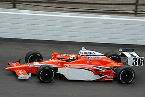 Conquest Racing - Conquest's Enrique Bernoldi practices for the 2008 Indianapolis 500.