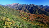Bessan and Mount Minamihaku from Mount Choshi 2008-10-16.jpg