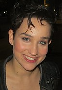 Bex Taylor-Klaus - The Killing set August 2013 (cropped).jpg