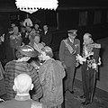 Bezoek Koninklijke Deense familie , vrouwelijke politie actie, Bestanddeelnr 906-4195.jpg
