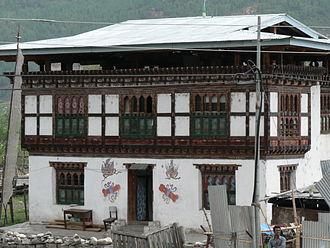 Paro, Bhutan - Image: Bhutanese house, Paro