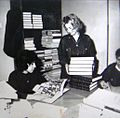 Bibliotekari od Narodnata biblioteka, sreduvaat po zemjotresot.jpg