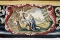 Bibliska historien. Bebådelsen. Efter konservering. Kartuschen - Skoklosters slott - 87036.tif