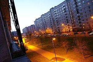 Zolitūde - Aleksandra Bieziņa street in Zolitūde