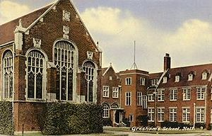 Gresham's School - Big School, 1903, by the architect John William Simpson
