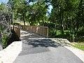 Bike trail bridge and railroad tracks - panoramio.jpg