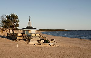 English: Bikini bar in Yyteri beach. Suomi: Bi...