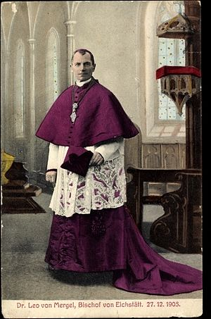 Choir dress - Bishop in Choir dress with train