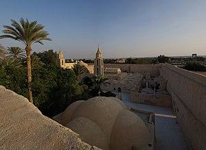 Wadi El Natrun - Image: Bischoy Kloster BW 9