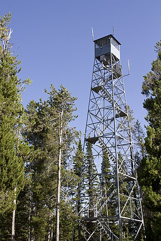 National Register of Historic Places listings in Fremont County, Idaho - Image: Bishop mtn lookout