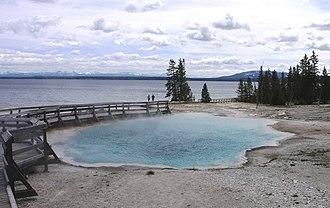 Black Pool - Image: Black Pool hot spring in West Thumb Geyser Basin
