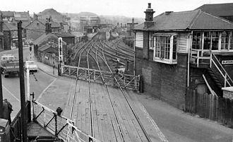Blaydon railway station - Blaydon railway station in 1965.