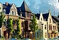 Blick vom Burggarten auf die Häuser 11 - 17 der Denkmalzone am Stadtgraben in Andernach.jpg