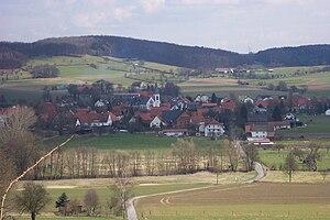 Bad Driburg - Alhausen seen from the Rosenberg