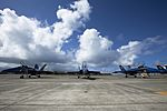 Blue Angels Hornets front view at Marine Corps Air Station Kaneohe Bay 21 Sep 2010.jpg