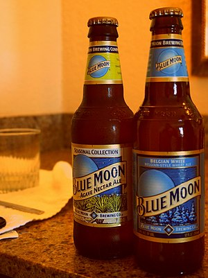Blue Moon (beer) - Blue Moon Agave Nectar Ale and Blue Moon.