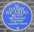 Blue plaque Harry Ricardo.jpg