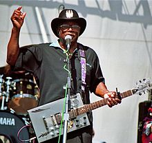 Bo Diddley performing live at the Long Beach Blues Festival, September 1, 1997