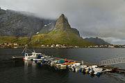 Boat dock in Reine, Lofoten, Norway, 2015 September.jpg