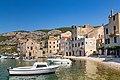 Boats in Komiza Town Harbour on Vis island, Croatia (48693525998).jpg