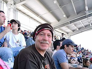 Bob Wood (author) - Bob Wood attends a game between the Pittsburgh Pirates and Washington Nationals at Nationals Park on Sunday, May 4, 2008. This stadium was not a part of his original 1985 tour.