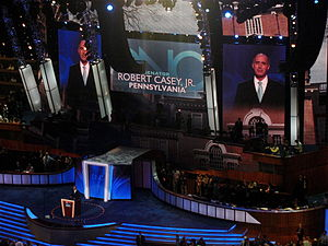 Bob Casey Jr. - Casey speaks during the second day of the 2008 Democratic National Convention in Denver, Colorado.