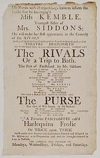 <i>The Rivals</i> play by Richard Brinsley Sheridan