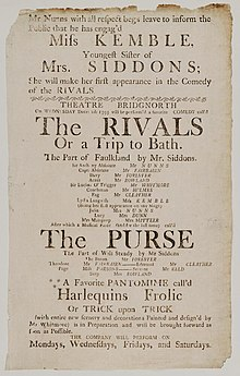 Bodleian Libraries, Playbill of Theatre, Wednesday Decr. 2d- 1795, announcing The rivals, or, A trip to Bath &c..jpg