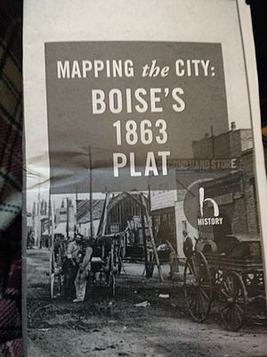 Plat - A pamphlet for a walking tour of Boise's original ten blocks.