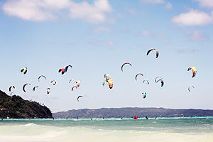 Kiteboarding - Kitesurfing in Boracay, Philippines