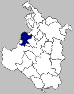 Map of Bosiljevo within Karlovac County