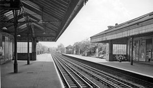 Boston Manor tube station - Boston Manor Station in 1961