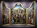 Bottega del maestro della leggenda di santa caterina, trittico coi miracoli di cristo 01.JPG