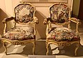 Bottega lombarda, poltroncine, 1750 ca., da sala da ballo di palazzo sormani.JPG