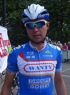 Jérôme Baugnies Belgian bicycle racer