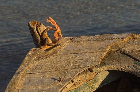 Bow of a bark, Aghios Minas, Chalkida, Greece.jpg