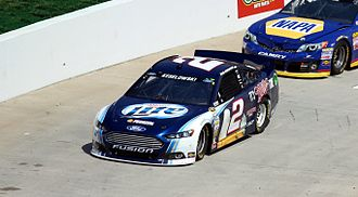 Alcohol advertising - The Miller Lite sponsored car of Brad Keselowski in the NASCAR Sprint Cup Series