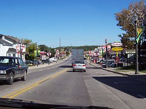 Bradford, Ontario - Holland St. East (Cty. Rd. 88) in Bradford on a Saturday afternoon.