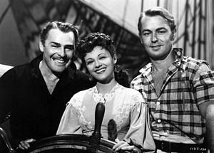 Alan Ladd - Ladd with Brian Donlevy and Esther Fernández in Two Years Before the Mast (1946).