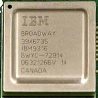 Broadway (microprocessor) - IBM Broadway microprocessor from the inside of a Wii. The reference to Canada in the picture is related to where it was packaged i.e. by IBM Canada in Bromont.