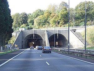 M4 relief road - The Brynglas Tunnels on the existing M4, which would be bypassed by a new road