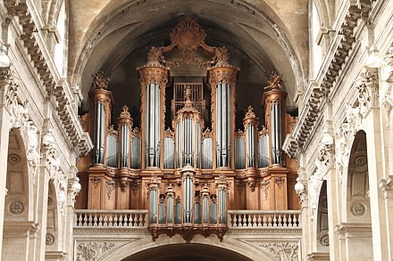 The Cavaille-Coll organ of the cathedral of Nancy, featured the first 32' Bombarde in France. (France) Buffet grand-orgue.jpg