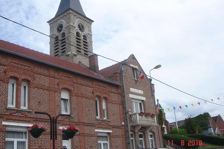 Mairie de Bugnicourt - Département du Nord - France