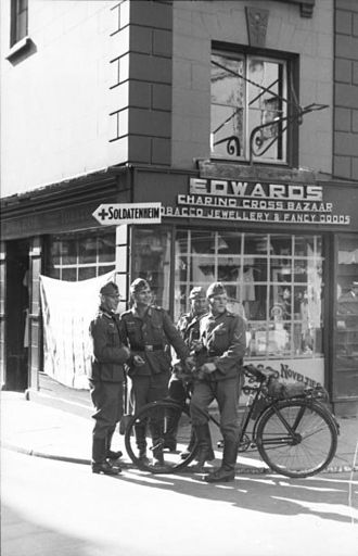 German occupation of the Channel Islands - German soldiers in Jersey